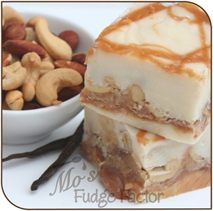 Vanilla Caramel Nut Fudge